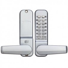 BORG SINGLE DIGITAL LOCK LEVER SATIN CHROME