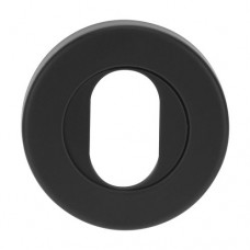 LOCKWOOD VELOCITY 55MM OVAL CYLINDER ESCUTCHEON MATT BLACK