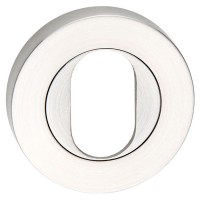 ROUND ROSE ESCUTCHEON OVAL CYLINDER SS